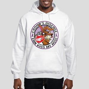 Crohn's Disease Can Kiss My A Hooded Sweatshirt