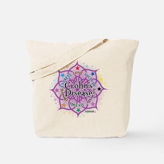 Crohn's Disease Lotus Tote Bag