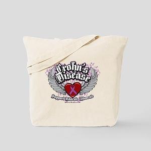 Crohn's Disease Wings Tote Bag