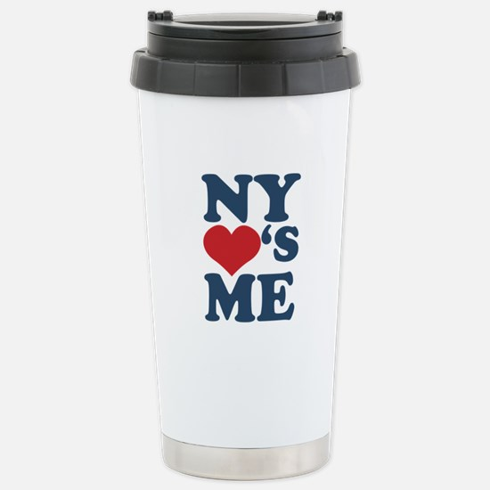 NY Loves Me Stainless Steel Travel Mug
