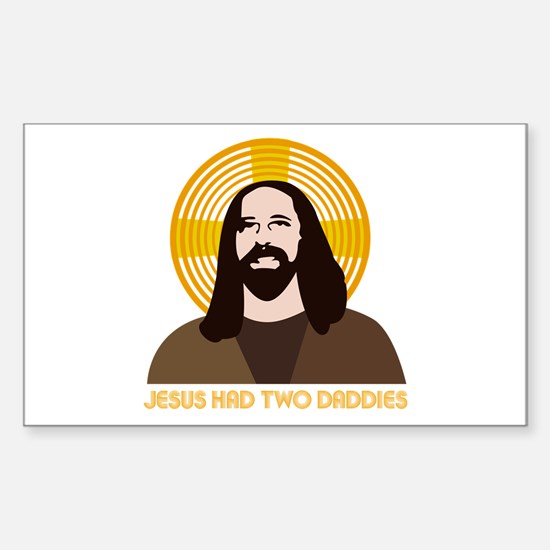 Jesus Had Two Dads Sticker (Rectangle)