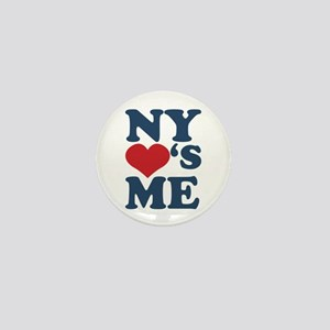 NY Loves Me Mini Button