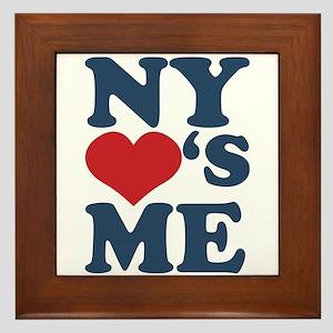 NY Loves Me Framed Tile
