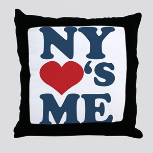 NY Loves Me Throw Pillow