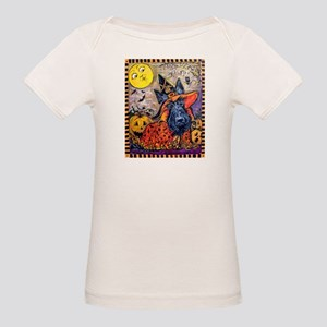Scottie Halloween Witch Organic Baby T-Shirt