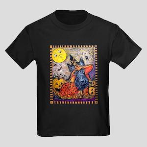 Scottie Halloween Witch Kids Dark T-Shirt