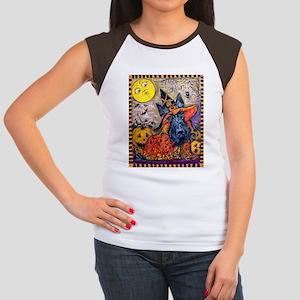 Scottie Halloween Witc Junior's Cap Sleeve T-Shirt