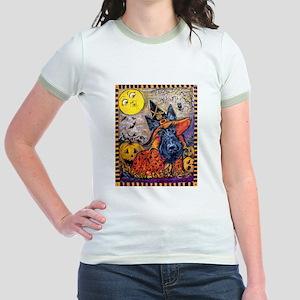 Witch Scottie Halloween Jr. Ringer T-Shirt