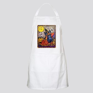 Scottie Halloween Witch Light Apron