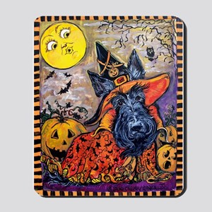 Scottie Halloween Witch Mousepad