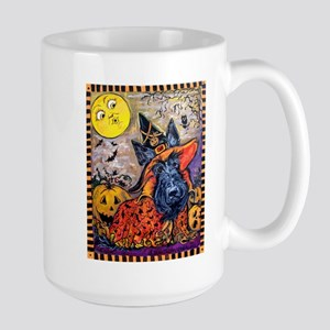 Scottie Halloween Witch 15 oz Ceramic Large Mug