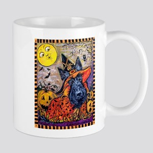 Scottie Halloween Witch 11 oz Ceramic Mug