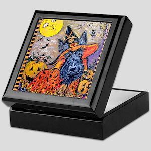Witch Scottie Halloween Keepsake Box