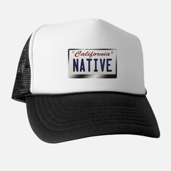 """NATIVE"" California License Plate Trucker Hat"
