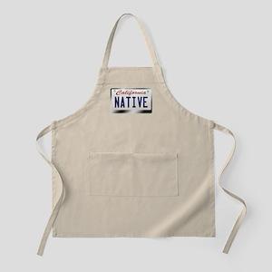 """""""NATIVE"""" California License Plate Apron"""