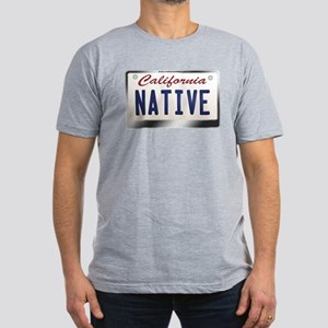 """NATIVE"" California License Plate Men's Fitted T-S"