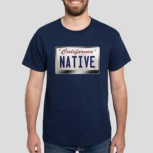 """NATIVE"" California License Plate Dark T-Shirt"