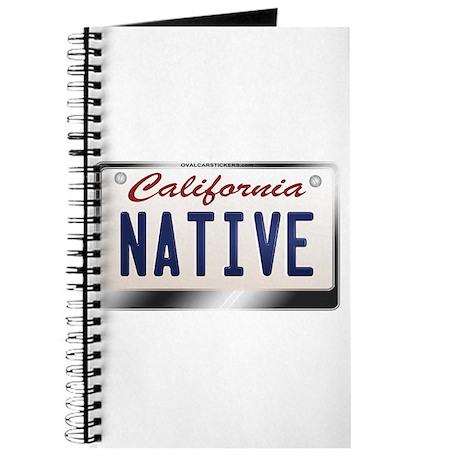 """NATIVE"" California License Plate Journal"