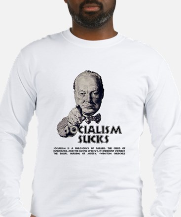 Socialism Sucks with Quote Long Sleeve T-Shirt