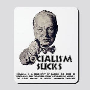 Socialism Sucks with Quote Mousepad