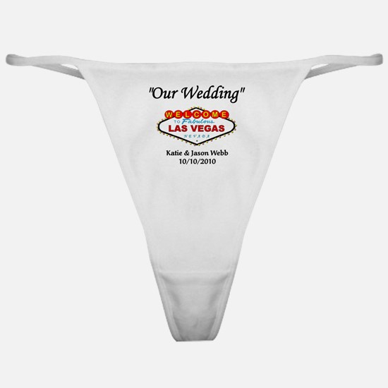 Our Wedding Personalized Classic Thong
