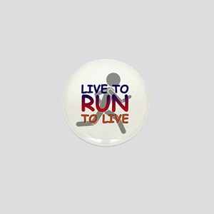 Live to Run Mini Button