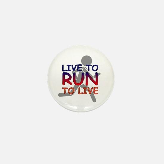 Live to Run Mini Button