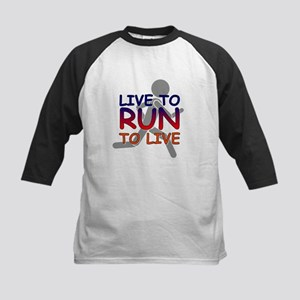 Live to Run Kids Baseball Jersey
