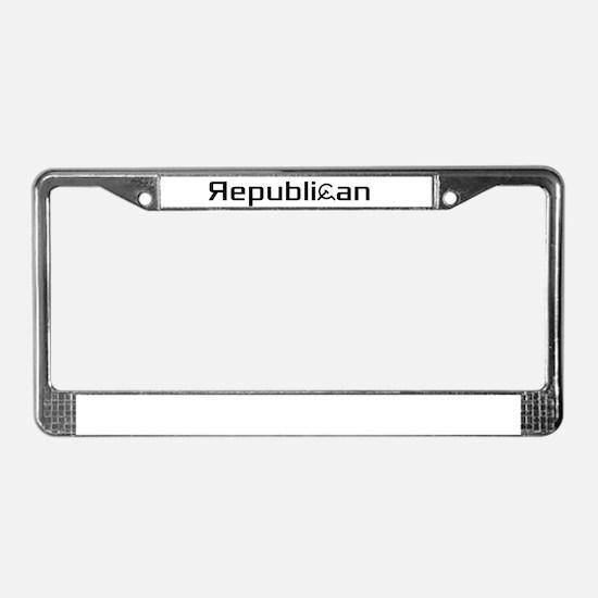 Republican Pride License Plate Frame