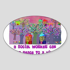 Social Worker III Sticker (Oval)