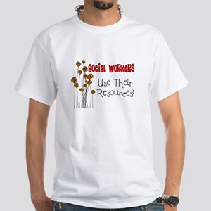 Social Worker III White T-Shirt
