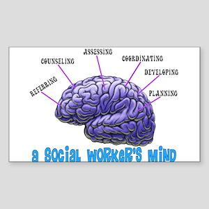 Social Worker III Sticker (Rectangle 10 pk)