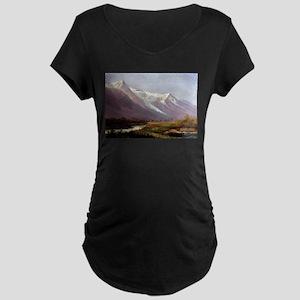 Albert Bierstadt Study of Mounta Maternity T-Shirt