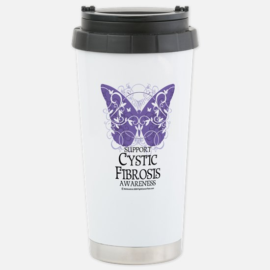 Cystic-Fibrosis Butterfly 3 Stainless Steel Travel