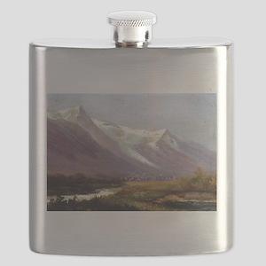 Albert Bierstadt Study of Mountains Flask