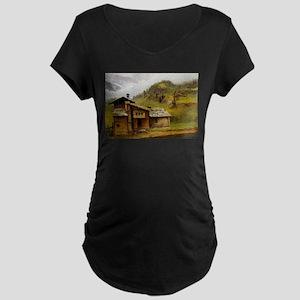 Albert Bierstadt Mountain House Maternity T-Shirt