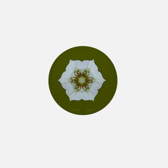 Orchid Kaleidoscope Mini Button