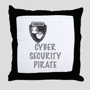 Cyber Security Pirate Throw Pillow