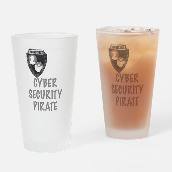 Cyber Security Pirate Drinking Glass