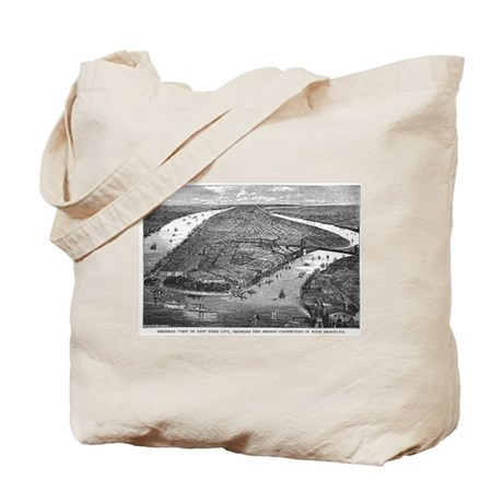 NYC- downtown view Tote Bag