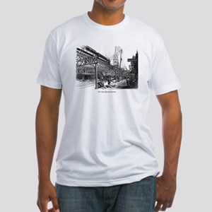 NYC- el train Fitted T-Shirt