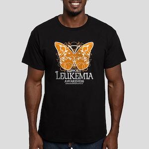 Leukemia Butterfly 3 Men's Fitted T-Shirt (dark)