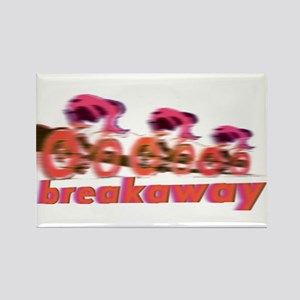 breakaway cyclists Rectangle Magnet