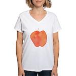 Apple Women's V-Neck T-Shirt