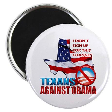 "Texans Against Obama 2.25"" Magnet (100 pack)"