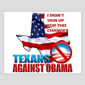 Texans Against Obama Small Poster