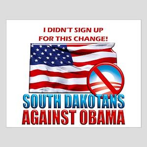 South Dakotans Against Obama Small Poster