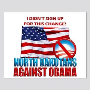 North Dakotans Against Obama Small Poster