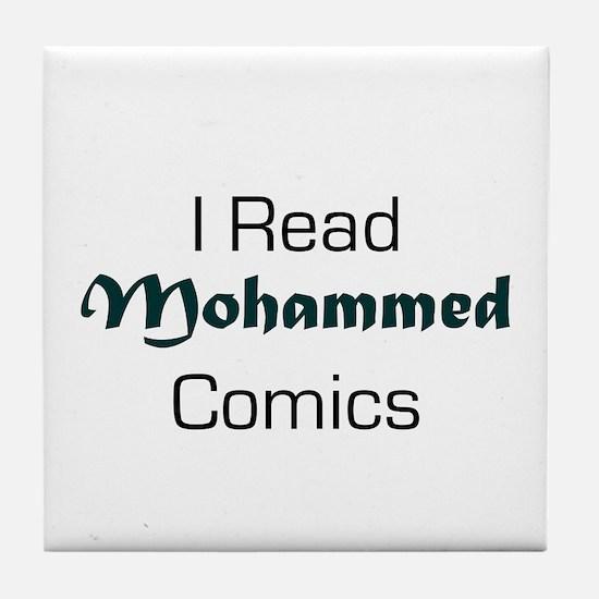 I Read Mohammed Comics Tile Coaster