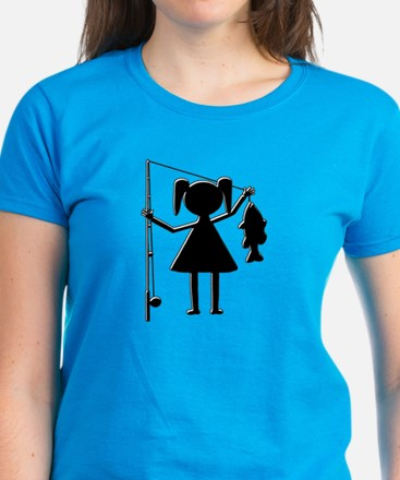 REEL GIRL Women's Dark T-Shirt